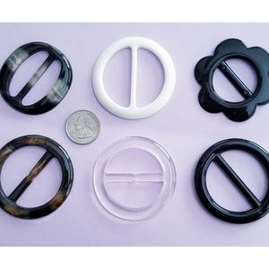 Accessories - 6 pieces T-Shirt Slide Buckle Ring Clip. Go Retro!